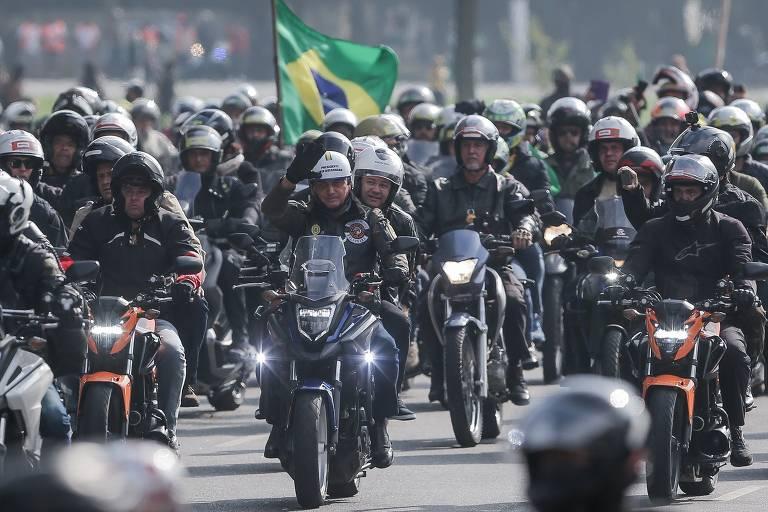 Jair Bolsonaro Reúne Milhares de motociclistas em SP e é multado por João  Dória | Portal Politizei | O Site de Política do Amazonas
